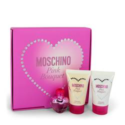 Moschino Pink Bouquet Perfume by Moschino -- Gift Set - .17 oz Mini EDT + 0.8 oz Body Lotion + 0.8 oz Shower Gel