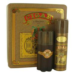 Cigar Cologne by Remy Latour -- Gift Set - 3.3 oz Eau De Toilette Spray + 6.6 oz Deodorant
