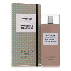 Notebook Patchouly & Cedar Wood Cologne by Selectiva SPA 3.4 oz Eau De Toilette Spray