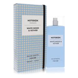 Notebook White Wood & Vetiver Cologne by Selectiva SPA 3.4 oz Eau De Toilette Spray