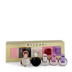 Omnia Amethyste Perfume by Bvlgari -- Gift Set - Women's Gift Collection Includes Goldea The Roman Night, Rose Goldea, Omnia, Omnia Pink Sapphire and Omnia Amethyste all .17 oz mini's