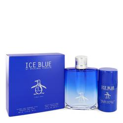Original Penguin Ice Blue Cologne by Original Penguin -- Gift Set - 3.4 oz Eau De Toilette Spray + 2.75 oz Deodorant Stick