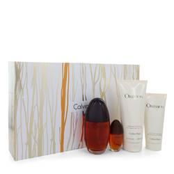 Obsession Perfume by Calvin Klein -- Gift Set - 3.4 oz Eau De Parfum Spray + 6.7 oz Body Lotion + .5 oz Mini EDP Spray + 3 oz Shower Gel
