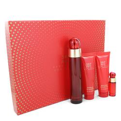 Perry Ellis 360 Red Perfume by Perry Ellis -- Gift Set - 3.4 oz Eau De Parfum Spray + 3 oz Body Lotion + 3 oz Shower Gel + .25 oz Mini EDP Spray