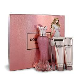 Paris Hilton Rose Rush Perfume by Paris Hilton -- Gift Set - 3.4 oz Eau De Parfum Spray + .34 oz Mini EDP Spray + 3 oz Body Lotion + 3 oz Shower Gel