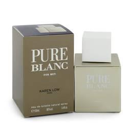 Pure Blanc Cologne by Karen Low 3.4 oz Eau De Toilette Spray