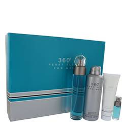 Perry Ellis 360 Cologne by Perry Ellis -- Gift Set - 3.4 oz Eau De Toilette Spray + 6.8 oz Body Spray + 3 oz Shower Gel + .25 oz Mini EDT Spray