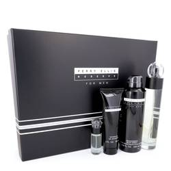 Perry Ellis Reserve Cologne by Perry Ellis -- Gift Set - 3.4 oz Eau De Toilette Spray + 6.8 oz Body Spray + 3 oz Shower Gel + .25 oz Mini EDT Spray