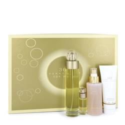 Perry Ellis 360 Perfume by Perry Ellis -- Gift Set - 3.4 oz Eau De Toilette Spray + 4 oz Body Mist + 3 oz Shower Gel + .25 Mini EDT Spray
