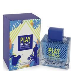 Play In Blue Seduction Cologne by Antonio Banderas 3.4 oz Eau De Toilette Spray