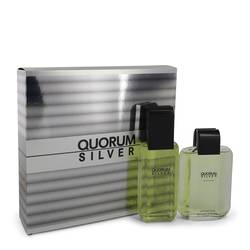 Quorum Silver Cologne by Puig -- Gift Set - 3.4 oz Eau De Toilette Spray + 3.4 oz After Shave