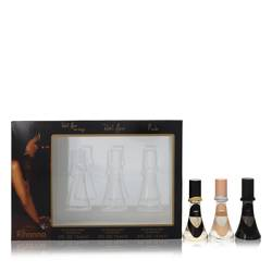 Reb'l Fleur Perfume by Rihanna -- Gift Set - Rihanna mini set includes Reb'l Fleur, Reb'l Fleur Love Always, Nude all in 0.5 oz travel sprays