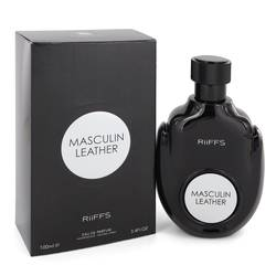 Masculin Leather Cologne by Riffs 3.4 oz Eau De Parfum Spray