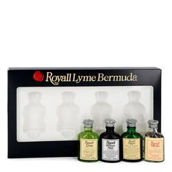 Royall Lyme Cologne by Royall Fragrances -- Gift Set - Modern Classic Travel Set Includes Royall Lyme, Royall Vetiver Noir, Royall Rugby and Royall Muske all in .29 oz travel bottles