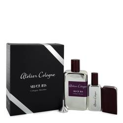 Silver Iris Cologne by Atelier Cologne 6.7 oz Pure Perfume Spray with Free 1 oz Pure Perfume Refillable Spray in Leather Case