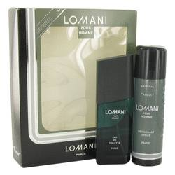 Lomani Cologne by Lomani -- Gift Set - 3.4 oz Eau De Toilette Spray + 6.7 oz Deodorant Spray