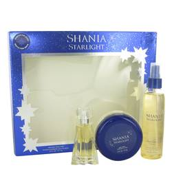 Shania Starlight Perfume by Stetson -- Gift Set - 1.7 oz Eau De Toilette Spray + 6.7 oz Shimmer Body Mist + 6 oz Body Souffle