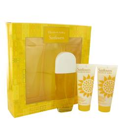 Sunflowers Perfume by Elizabeth Arden -- Gift Set - 3.3 oz Eau De Toilette Spray + 3.3 oz Hydrating Cream Cleanser + 3.3. oz Body Lotion
