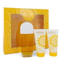 Sunflowers Perfume by Elizabeth Arden -- Gift Set - 3.3 oz Eau De Toilette Spray + 3.3 Body Lotion + 3.3 oz Body Cream