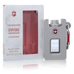 Swiss Unlimited Snowpower Cologne by Swiss Army 1 oz Eau De Toilette Spray