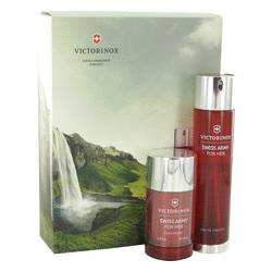 Swiss Army Perfume by Victorinox -- Gift Set - 3.4 oz Eau De Toilette Spray + 2.5 oz Deodorant Stick