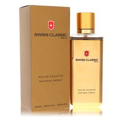 Swiss Classic Gold Cologne by Victorinox 3.3 oz Eau De Toilette Spray
