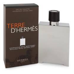 Terre D'hermes Cologne by Hermes 5 oz Eau De Toilette Spray Refillable (Metal)