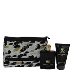 Trussardi Cologne by Trussardi -- Gift Set - 3.4 oz Eau De Toilette Spray + 3.4 oz Shower Gel + Trusssardi Pouch