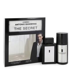 The Secret Cologne by Antonio Banderas -- Gift Set - 3.4 oz Eau De Toilette Spray + 5.1 oz Deodorant Spray