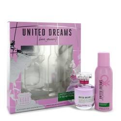 United Dreams Love Yourself Perfume by Benetton -- Gift Set - 2.7 oz Eau De Toilette Spray + 5.1 oz Deodorant Spray