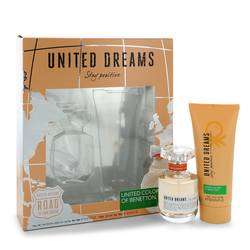 United Dreams Stay Positive Perfume by Benetton -- Gift Set - 1.7 oz Eau De Toilette Spray + 3.4 oz Body Lotion