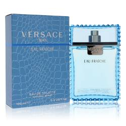 Versace Man Cologne by Versace 3.4 oz Eau Fraiche Eau De Toilette Spray (Blue)