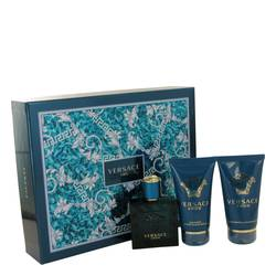 Versace Eros Cologne by Versace -- Gift Set - 1.7 oz Eau De Toilette Spray + 1.7 Shower Gel + 1.7 oz After Shave Balm
