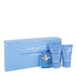 Versace Man Cologne by Versace -- Gift Set - .17 oz Mini EDT (Eau De Fraiche) + 0.8 Shower Gel + 0.8 oz After Shave Balm
