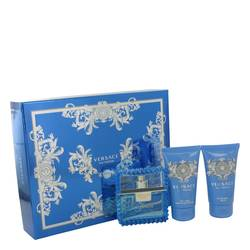 Versace Man Cologne by Versace -- Gift Set - 1.7 oz Eau De Toilette Spray (Eau Fraiche) + 1.7 oz Shower Gel + 1.7 oz After Shave Balm