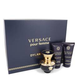 Versace Pour Femme Dylan Blue Perfume by Versace -- Gift Set - 1.7 oz Eau De Parfum Spray + 1.7 oz Body Lotion + 1.7 oz Shower Gel