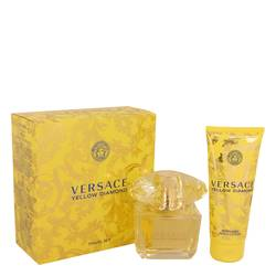 Versace Yellow Diamond Perfume by Versace -- Gift Set - 3 oz Eau De Toilette Spray + 3.4 oz Body lotion