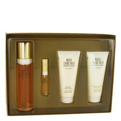 White Diamonds Perfume by Elizabeth Taylor -- Gift Set - 3.3 oz Eau De Toilette Spray + .33 oz Mini EDT Spray + 3.3 oz Body Lotion + 3.3 oz Body Wash