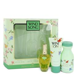 Wind Song Perfume by Prince Matchabelli -- Gift Set - .55 oz Cologne Spray +1.9 oz Body Lotion + 2.7 oz Dusting Powder