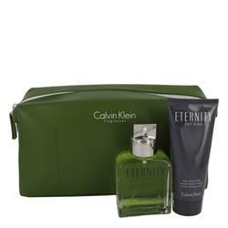 Eternity Cologne by Calvin Klein -- Gift Set - 3.4 oz Eau De Toilette Spray + 3.4 oz After Shave Balm in Eternity Men Bag