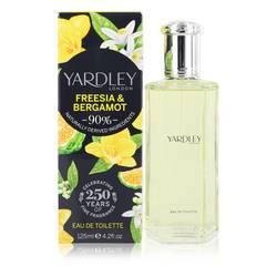 Yardley Freesia & Bergamot Perfume by Yardley London 4.2 oz Eau De Toilette Spray